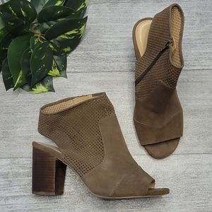Market & Spruce Forgione Perforated Suede Bootie